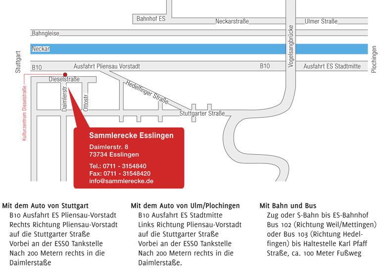 Anfahrtsplan Esslingen