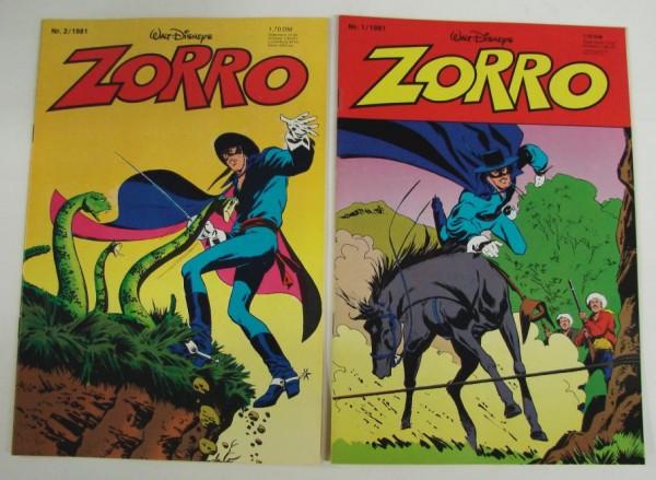 Zorro (Ehapa, Gb.) Jahrgang 1981 Nr. 1-12 kpl. (Z1)