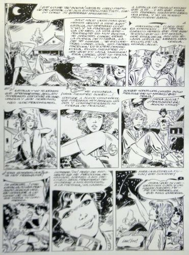 Originalzeichnung (0633) Blazquez 8 Seiten zus.