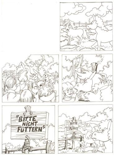 Originalzeichnung (0507) Rabauke und Rübe