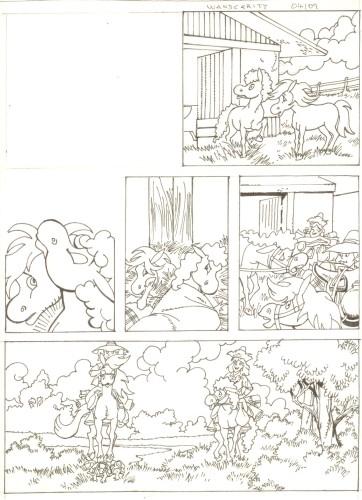 Originalzeichnung (0510) Rabauke und Rübe