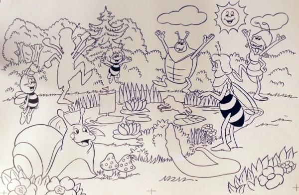 Originalzeichnung (0596) Biene Maja