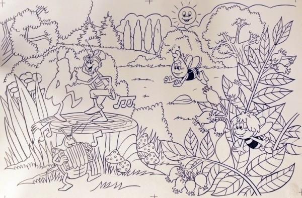 Originalzeichnung (0597) Biene Maja