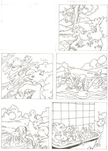 Originalzeichnung (0505) Rabauke und Rübe