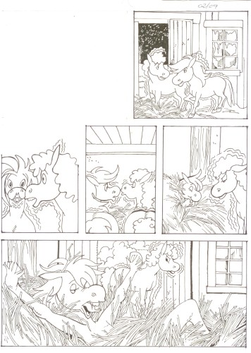 Originalzeichnung (0512) Rabauke und Rübe