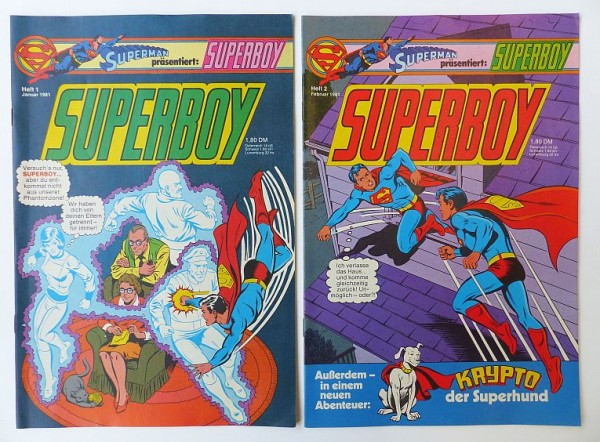 Superboy (Ehapa, Gb.) in kompletten Jahrgängen Jahrgang 1980 - 1984