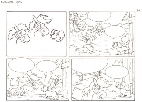 Originalzeichnung (0556) Rabauke und Rübe 2 Seiten zus.