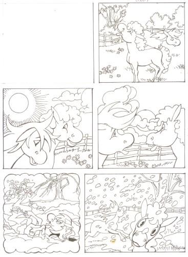 Originalzeichnung (0511) Rabauke und Rübe