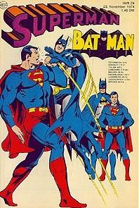 Superman (Ehapa, Gb.) Jahrgang 1974 mit Beilage Nr. 6-9, 24
