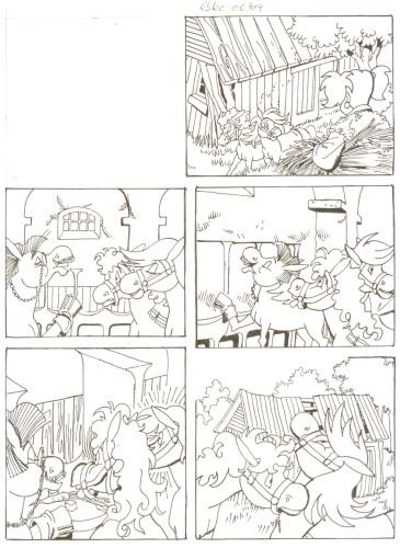 Originalzeichnung (0508) Rabauke und Rübe