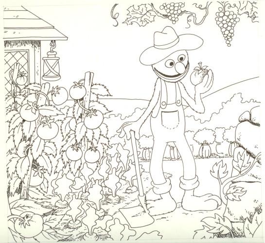 Originalzeichnung (0157) Sesamstraße