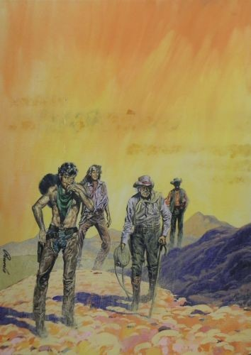 Originalzeichnung (0752) Western Inferno 4