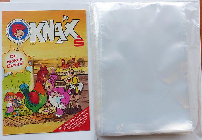 Comic Hüllen Schutzhüllen Piccolo  Format 9 x 18 cm 100 Stk