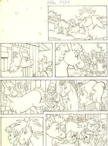 Originalzeichnung (0523) Rabauke und Rübe
