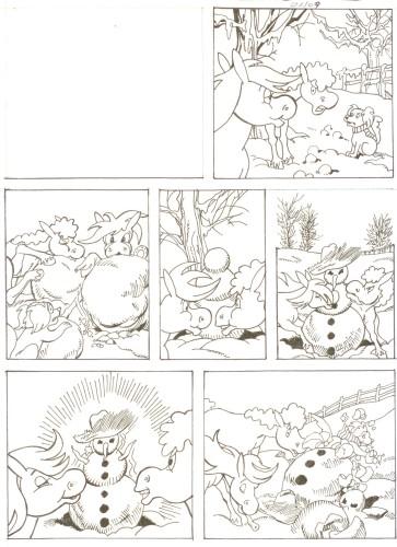 Originalzeichnung (0513) Rabauke und Rübe