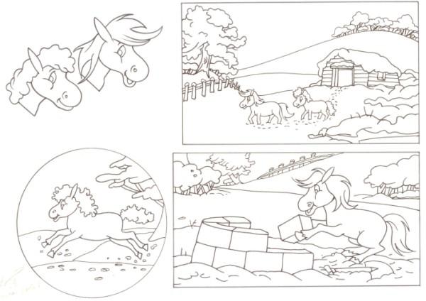 Originalzeichnung (0532) Rabauke und Rübe 2 Seiten zus.
