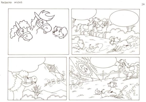 Originalzeichnung (0538) Rabauke und Rübe 2 Seiten zus.