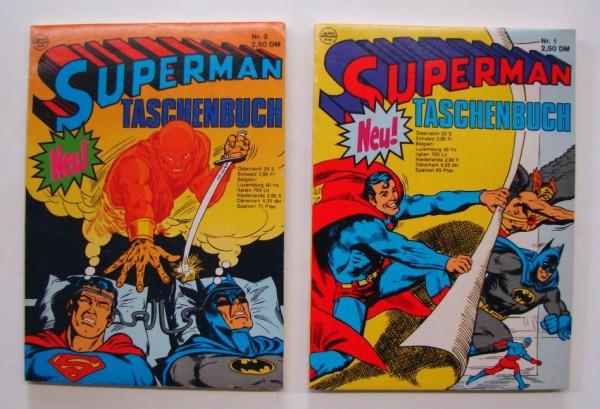 Superman Taschenbuch 1. Auflage (Ehapa, Tb.) Nr. 1-80 kpl. (Z1-)