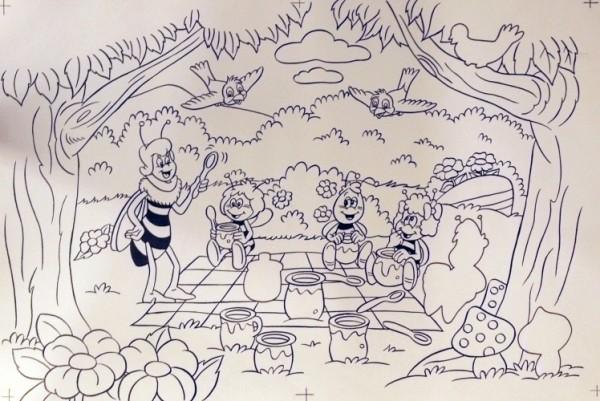 Originalzeichnung (0598) Biene Maja