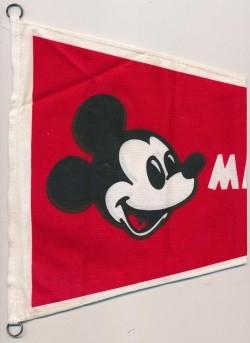 Micky Maus Klubartikel Wimpel groß Metallringe
