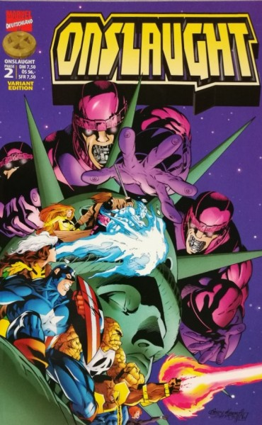 X-Men (Marvel, Gb., 1997) Variant Nr. 22 (Onslaught 2)
