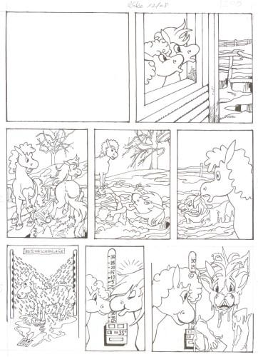 Originalzeichnung (0514) Rabauke und Rübe