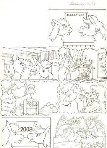 Originalzeichnung (0524) Rabauke und Rübe