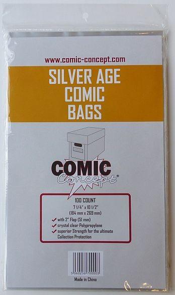 US Silver Size Schutzhüllen - 100 Stück