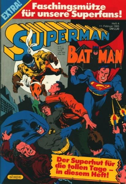 Superman (Ehapa, Gb.) Jahrgang 1985 mit Beilage Nr. 2-4