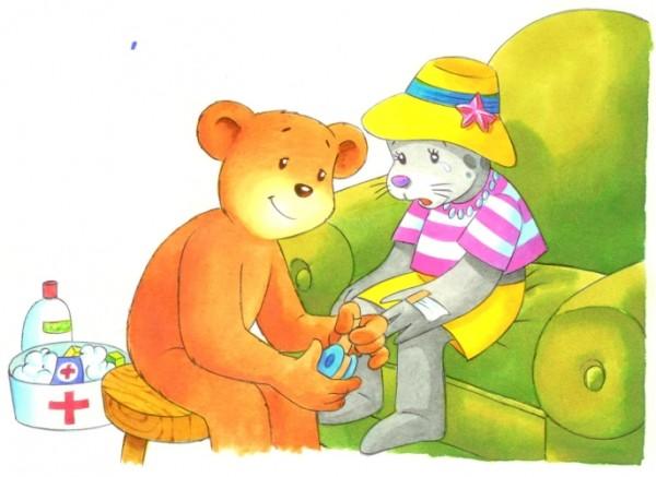 Originalzeichnung (0145) Zwei Bären