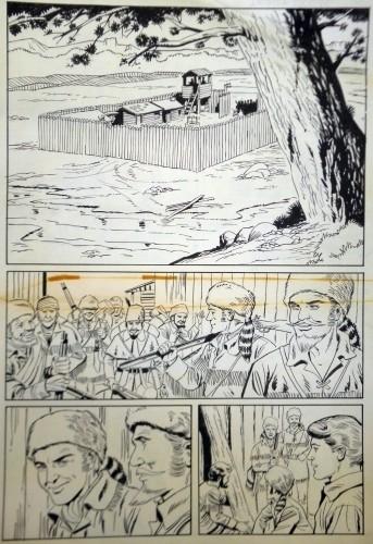 Originalzeichnung (0612) Daniel Boone 28 Seiten zus.