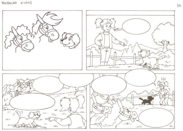 Originalzeichnung (0537) Rabauke und Rübe 2 Seiten zus.