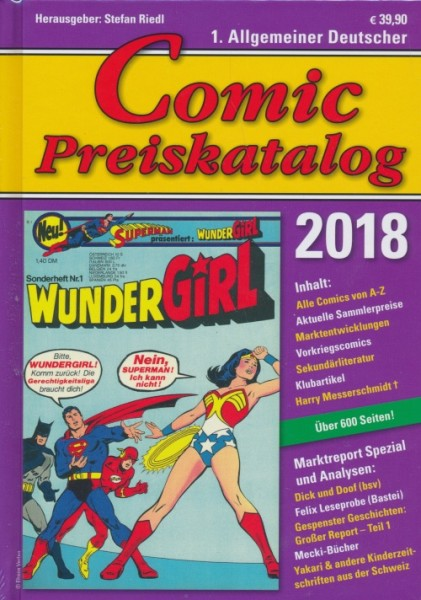 Comic-Preiskatalog 2018 HC