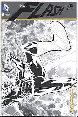 Flash (2011) Black & White Variant Cover 10-12,0