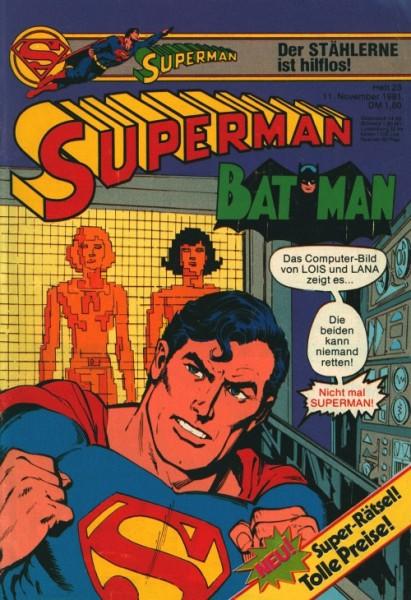 Superman (Ehapa, Gb.) Jahrgang 1981 mit Beilage Nr. 23