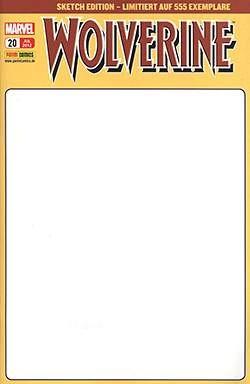Wolverine (Panini, Gb, ab 2009) Nr. 20 Sketch Edition Variant-Cover