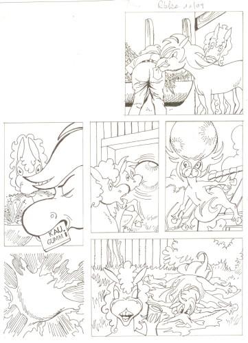 Originalzeichnung (0503) Rabauke und Rübe