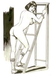 Originalzeichnung Erotische Pin-ups (Bild 123)
