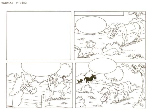 Originalzeichnung (0539) Rabauke und Rübe 2 Seiten zus.