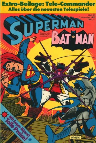 Superman (Ehapa, Gb.) Jahrgang 1983 mit Beilage Nr. 1-3, 23, 25