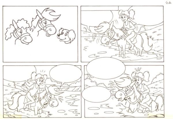 Originalzeichnung (0544) Rabauke und Rübe 2 Seiten zus.