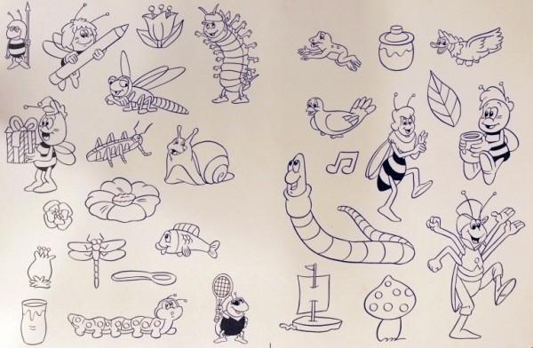 Originalzeichnung (0595) Biene Maja