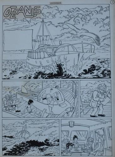 Originalzeichnung (0193) Oceanus 8 Seiten zus.