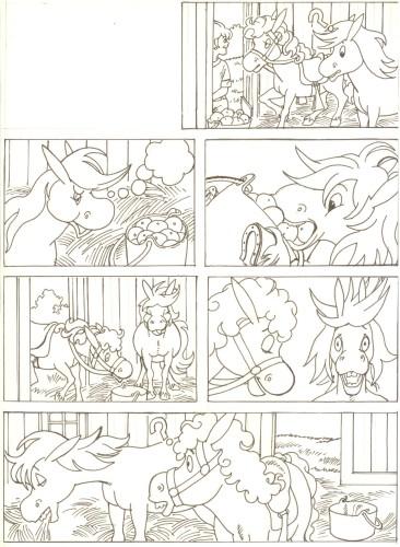 Originalzeichnung (0521) Rabauke und Rübe