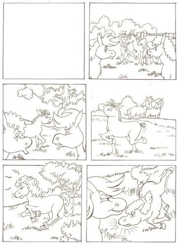 Originalzeichnung (0517) Rabauke und Rübe