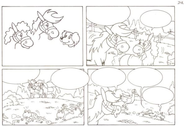 Originalzeichnung (0553) Rabauke und Rübe 2 Seiten zus.