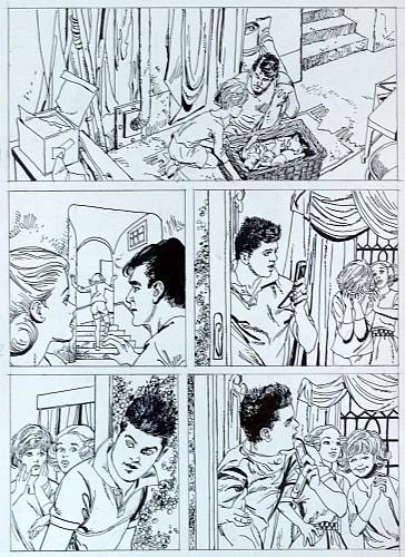 Originalzeichnung (0363) Große Rätselschule 4 Seiten zus.