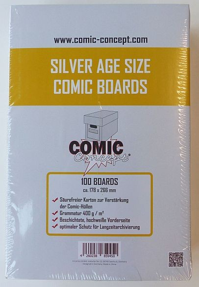 US Silver Size Backing Boards (Comic Concept) - 1000 Stück