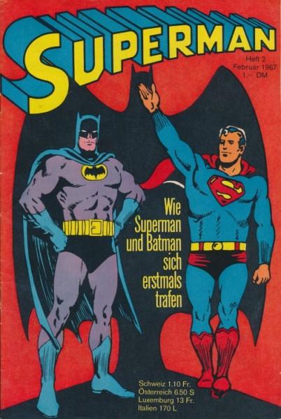 Superman (Ehapa, Gb.) Jahrgang 1967 Nr. 1-2