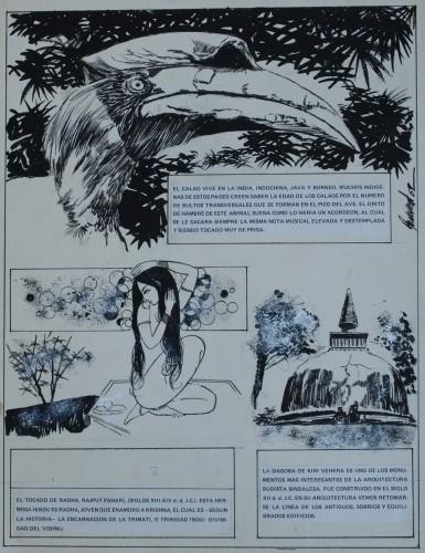 Originalzeichnung (0199) India Fascinante